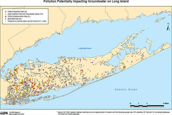 long island drinking water quality map